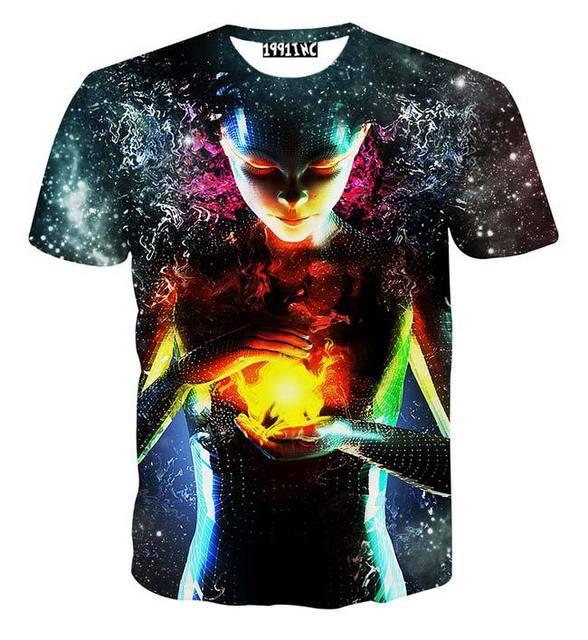 Новый мужская Футболка 3d печати Маг Энергетический шар galaxy майка летние топы тройники рубашки B17