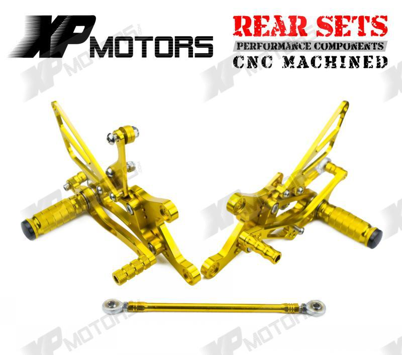 New Arrived Gold Racing Foot pegs Adjustable Rearset Rear Sets For Yamaha YZF R1 1998 1999 2000 2001 2002 2003 black gold motorcycle new front rear full set brake discs rotors for yamaha yzf r1 2002 2003 yzf r6 1999 2000 2001 2002 99 02