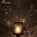 Novely Romántica Cosmos Amo de la Estrella del LED Proyector Lámpara Juguetes Giratoria Four Seasons Proyector de Estrellas Luz de La Noche Los Niños Bebé Juguetes LED