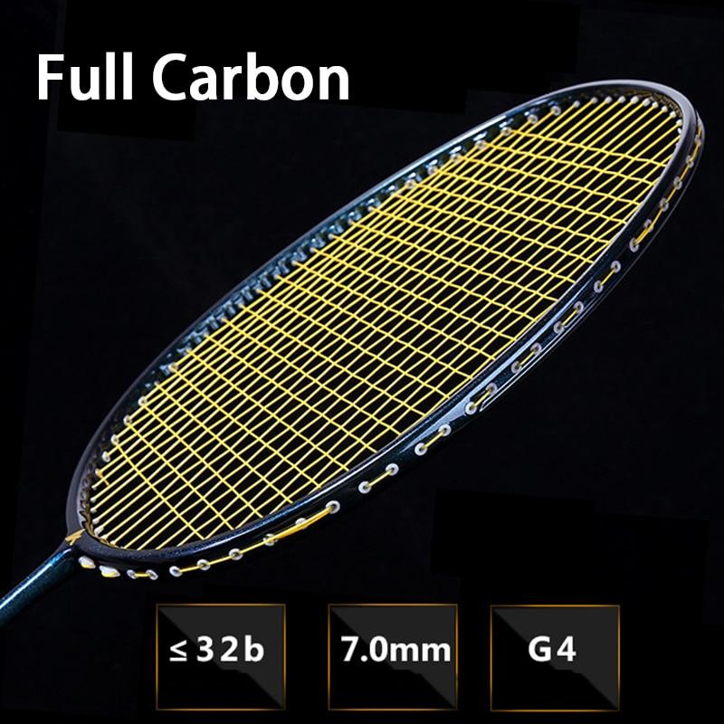 Professional Full Carbon Fiber 5U 77g Strung Badminton Racket Bag Padel String G4 32LBS Raquette Light Rackets Z Speed Raquete