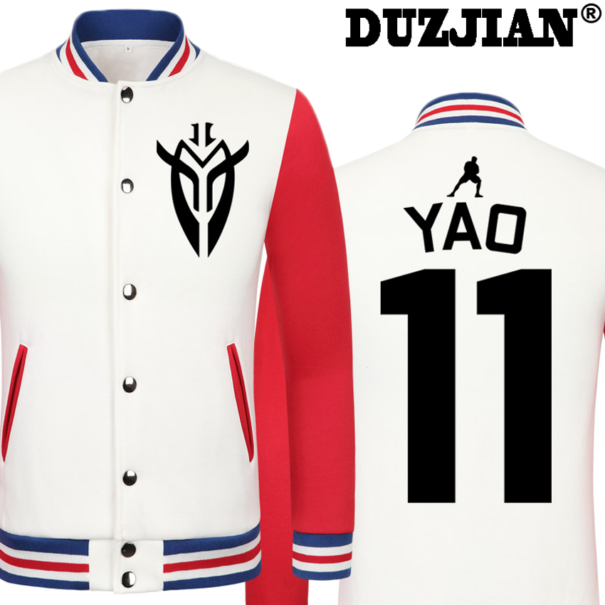 DUZJIAN Spring new Rocket Yao Ming casual jacket cheap men winter jackets male coat boys jacket hip hop mens tweed jacket