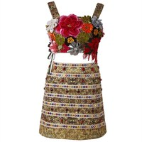 Женская юбка и без бретелек костюмы летние модные Кристаллы и стразы стерео мерный цветок аппликации топы и юбка карандаш костюмы