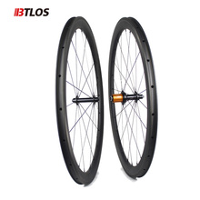 цена на Ultralight btlos WRC-45 Carbon Wheels 700C 45mm Clincher 26mm Width special braking Powerway R13  Road Bike Wheelset