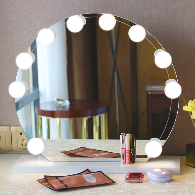Makeup Mirror Vanity LED Light 10 Bulbs Dimmable Vanity Light Bulbs ...