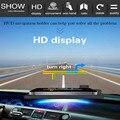 Ajustável Suporte de Navegação GPS Telefone Do Carro HUD Cabeça Up Display Titular do Smartphone Móvel Auto Condução Sob 6 Polegada