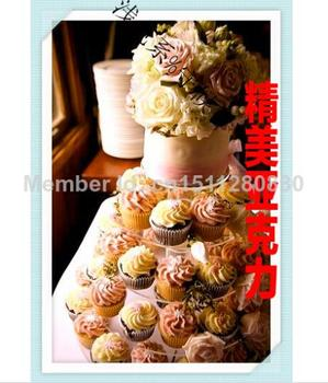 5 tier package exports European tableware creative candy nuts acrylic cake fruit plate acrylic cupcake stand wedding decoration