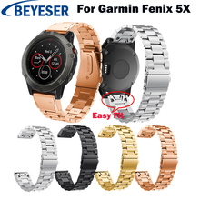Metal Stainless Steel Bands for Garmin Fenix 5X/5X Plus Strap Replacement Smart Watch Band Bracelet for Garmin Fenix 3/Fenix 3HR strap stainless steel for garmin fenix 5x fenix 3hr fenix 3 2 1 smart watches band silicone watch wrist band 12 14