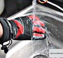 100% SCOYCO водонепроницаемый MC15 мото полный палец перчатки, езда по бездорожью moto байкер варежки черный