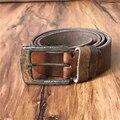 Vintage Belt Buckle Cowboy Retro Belts For Men Genuine Leather Punk Metal Jeans Strap Ceinture Homme Cinturones Hombre MBT0342