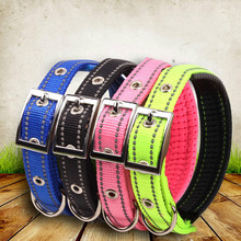 Home Garden - Pet Products - Reflective Dog Collar Nylon Night Safe Collars With Foam Padded Metal Adjustable Buckle Pet Neck For Small Medium Large Dogs