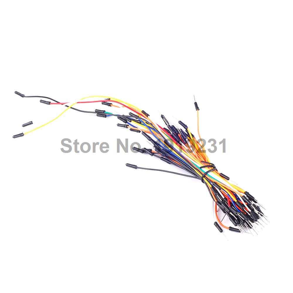 65pcs Jump Wire Male to Male Jumper Wire for font b Arduino b font Breadboard Free