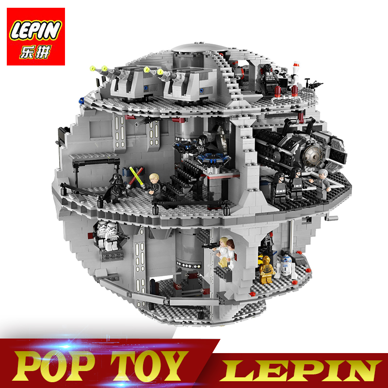 Lepin 05035 Star Set Wars Death Star 3804pcs Building Block Bricks Toys Kits Compatible legoed with 10188 Children Educational new lepin 16009 1151pcs queen anne s revenge pirates of the caribbean building blocks set compatible legoed with 4195 children