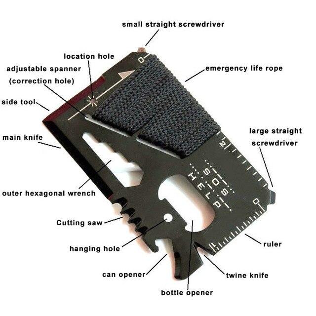 Credit Card Size Multifunctional Pocket Hunting Knife Kit
