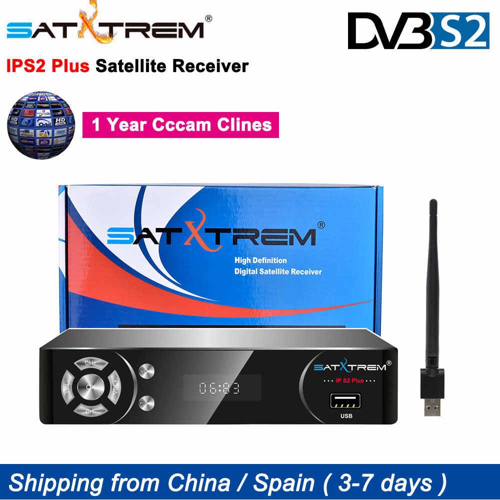 SATXTREM IPS2 Plus DVB-S2 récepteur de télévision par Satellite récepteur HD Europe cam Clines CAM pour 1 an espagne décodeur IPTV décodeur