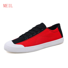 Color Matching Men's Shoes Summer Breathable Canvas Shoes Male Korean Version Of The Trend Students Wild Casual Sneakers Shoes 2019 summer new hong kong style men s canvas shoes male korean version of the trend of students casual shoes