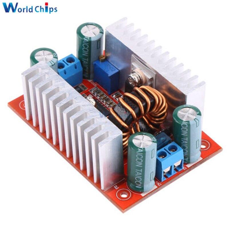DC 400W 15A paso-up Boost convertidor de alimentación de corriente constante fuente de alimentación LED conductor 8,5-50V a 10-60V cargador de voltaje paso módulo