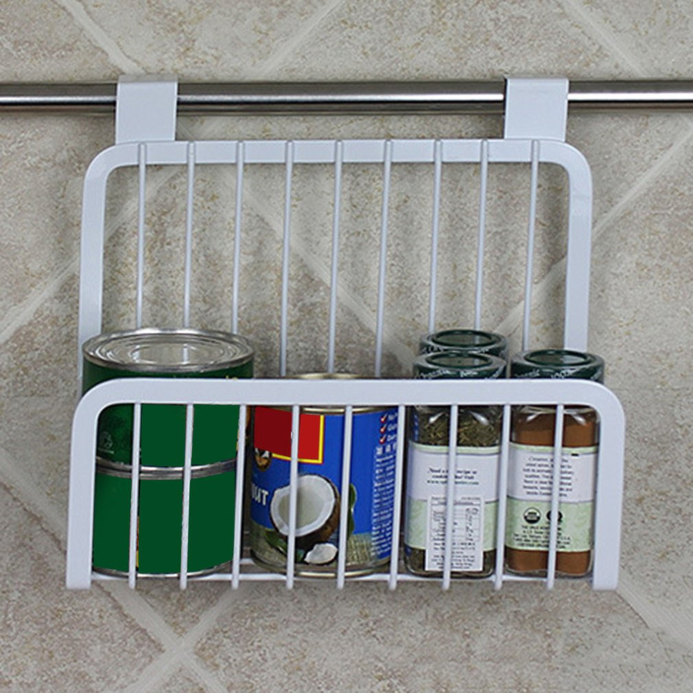 Kitchen Cabinet Hanging Rack Iron Shelves Hanging Wire Basket ...