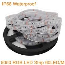 5m 12v dc ip67 ip68 impermeável smd 5050 tira conduzida de alta qualidade underwater & outdoor led strip light 300leds 60/m rgb branco