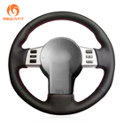 MEWANT Black Artificial Leather Car Steering Wheel Cover for Infiniti FX FX35 FX45 2003-2008 Nissan 350Z 2003-2009
