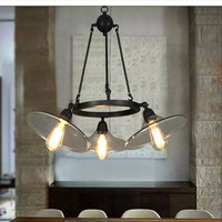Loft Industrial Restaurant Lamp Retro Dining Room Lights Coffee Shop Bar Light E27 Edison Bulbs Light