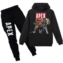children cartoon apex legends Minecraft game cotton T-shirt boy and girl long-sleeved sweater + pants suit thanksgiving outfits 2018 minecraft pants long sleeve suit boy clothing jacket spring and autumn hooded sweater suit children s t shirt 6 14y