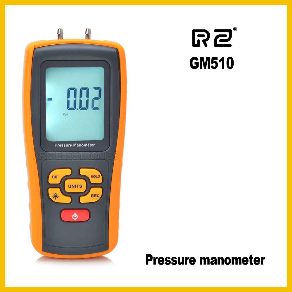 RZ GM510 Pressure Manometer USB interface and Low battery indicator functionRZ GM510 Pressure Manometer USB interface and Low battery indicator function