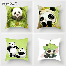 Fuwatacchi Cute Cartoon Panda Throw Pillows Cushion Cover for Sofa Animal Printed Pillow Decorative Pillowcase