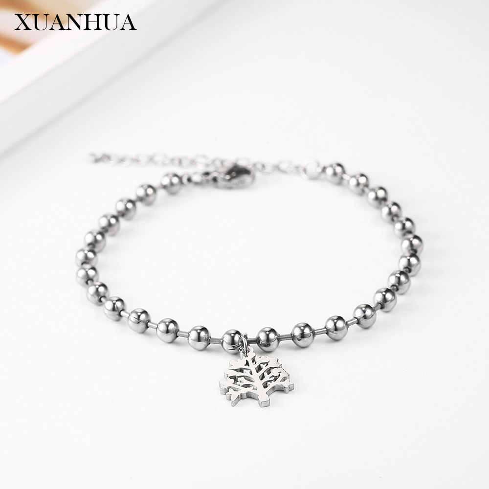 XUANHUA Chain Link Bracelets Bangles For Women Stainless Steel Jewelry Woman Atheism Bohemian Bracelet Wholesale Lots Bulk