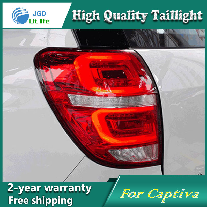 Car Styling Tail Lamp for Chevrolet Captiva 2015 Tail Lights LED Tail Light Rear Lamp LED DRL+Brake+Park+Signal Stop Lamp car styling tail lights for chevrolet captiva 2009 2016 taillights led tail lamp rear trunk lamp cover drl signal brake reverse
