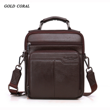 Hot sale 2017 new style messenger bags for men High quality Natural genuine leather handbags business casual shoulder Bags #206-