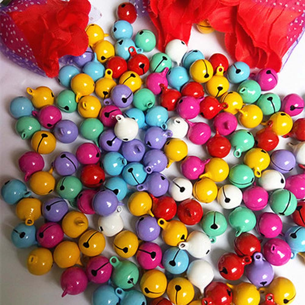 10 pcs/lot Cute Fashion 14mm Copper Jingle Bells Loose Beads Pendants Hanging Christmas Decorations Party Diy Crafts Accessories