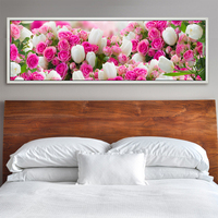 5D DIY Diamond Painting Flowers Rose Cross Stitch For Diamond Embroidery Diamond Mosaic Decorative Paintings Pictures
