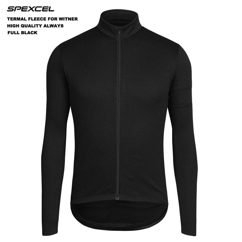 Prix pour SPEXCEL Bas-profil conception classique noir ouatine thermique d'hiver Cyclisme Jersey automne vélo Clothing Route VTT polaire veste