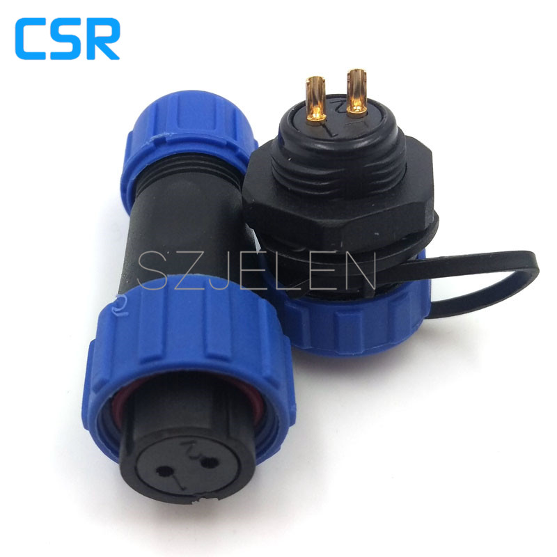 SP1310, waterproof electric cable connectors 2-pin plug socket, 2 pin cable connector,IP68, Female connector, male socket weipu sf12 waterproof connector 2pin m12 2 pin plug female socket male panel mount connector plug and socket