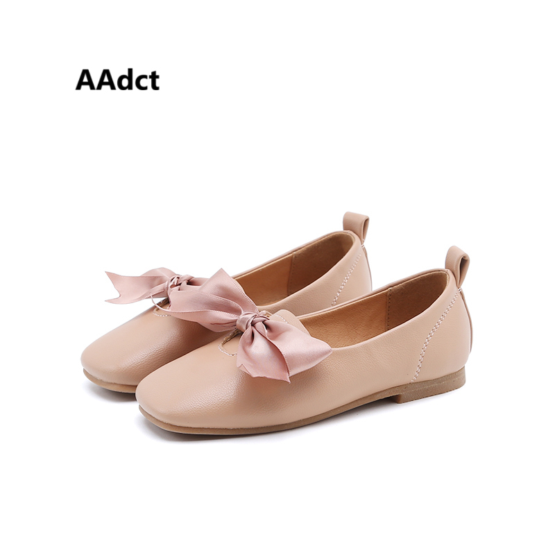 AAdct 2017 Fashion children shoes princess little girls shoes PU leather bow kids shoes All-match Brand High quality