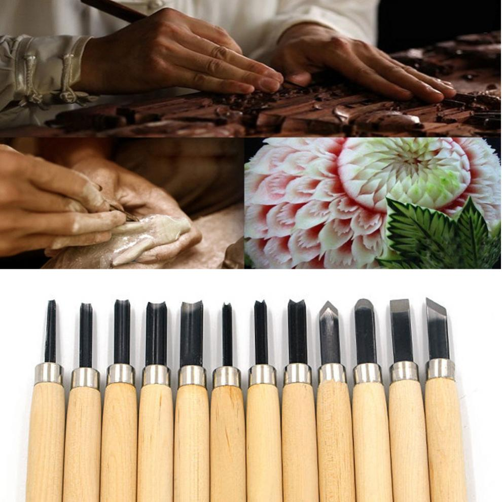 Professional 12pc Wood Carving Chisel Knife Tool Set