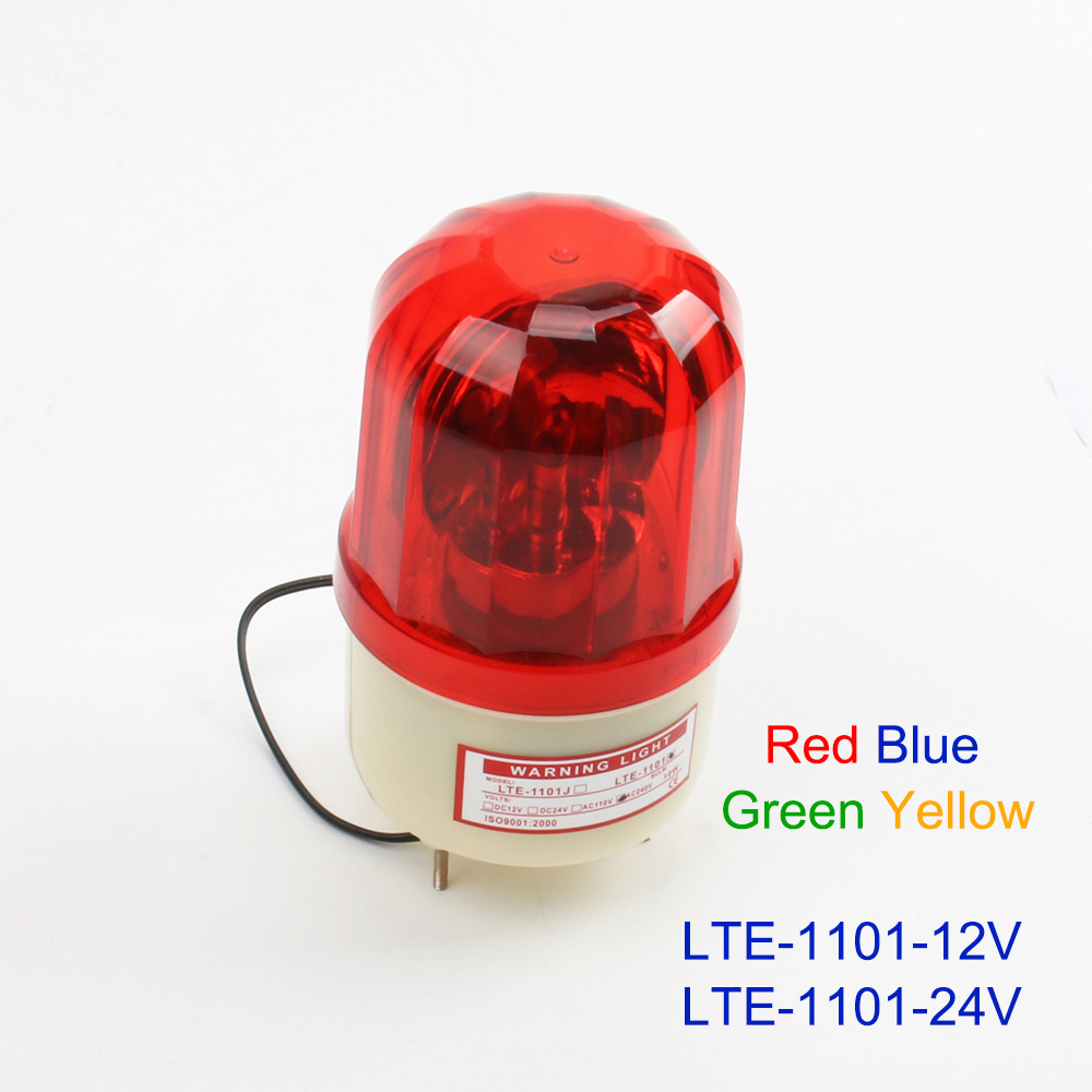 DC12V/24V Electric RedYellowGreenBlue Rotating Warning Light Lamp Warning For Industrial LTE-1101 Lighting Without Buzzer
