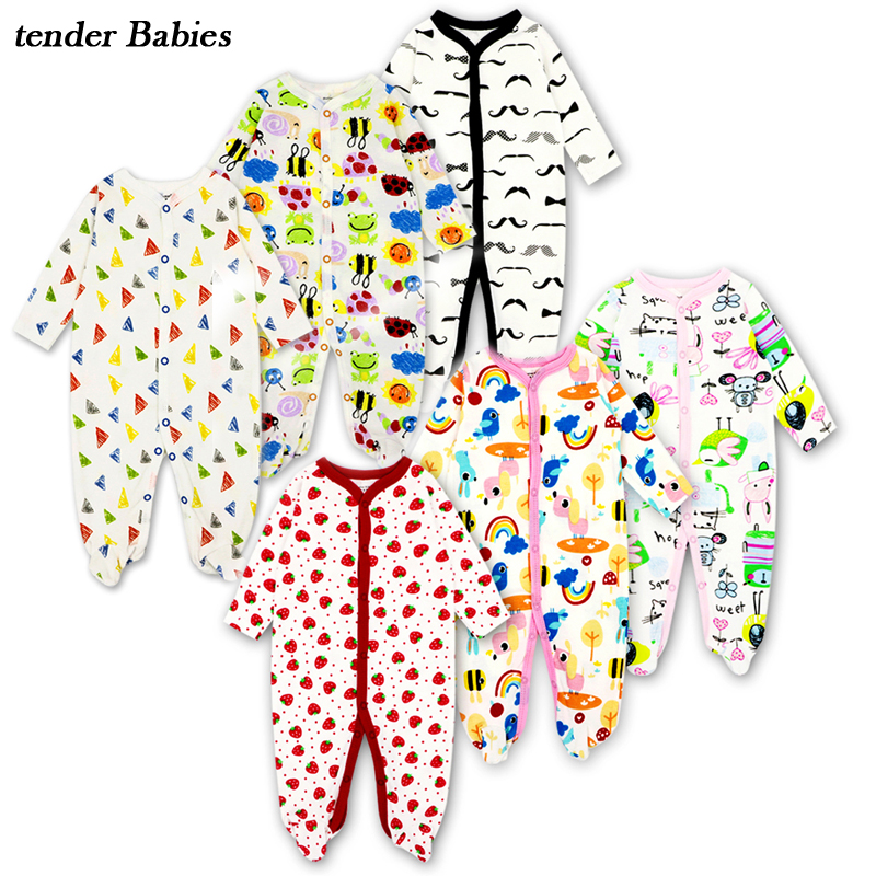 Cartoon Cotton Baby Romper Newborn Long Sleeve Baby Boy girl Clothes Romper Jumpsuit Infant Cute Clothes Overalls For Children new 2017 panda cute baby boy romper long sleeve cotton jumpsuit baby cartoon printed rompers newborn baby boy girl clothes white