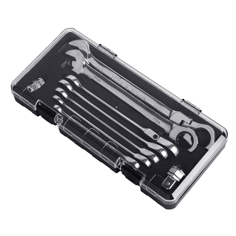 9 Piece Key Combination Fixed Head And Flexible Head Ratchet Wrench Set Motorcycle Tool Set Water Pipe Tool Bicycle Repair Tool цена