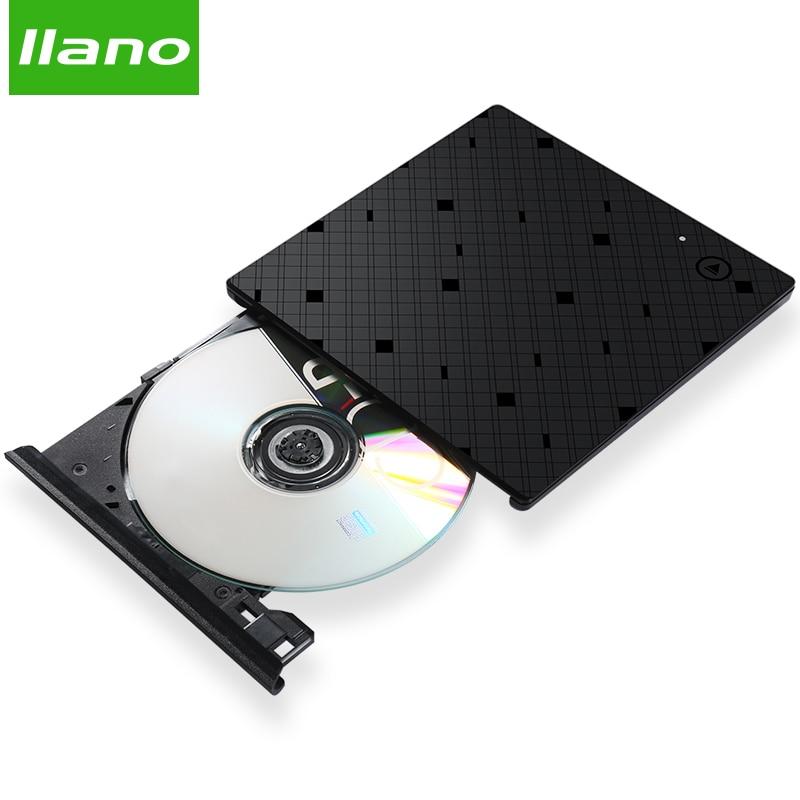 Llano USB Lecteur Optique Externe USB 3.0 CD/DVD-ROM Combo DVD RW ROM Brûleur pour Dell Lenovo Ordinateur Portable USB lecteur DVD pour win10/7