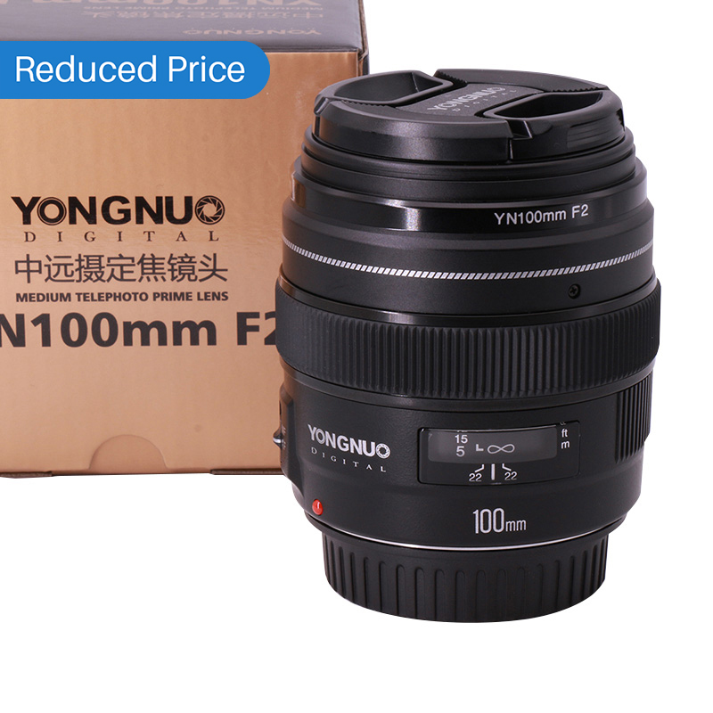 Ulanzi Yongnuo YN100mm F2 Medium Telephoto Prime Lens Lens 100mm Fixed Focal lens for Canon EOS