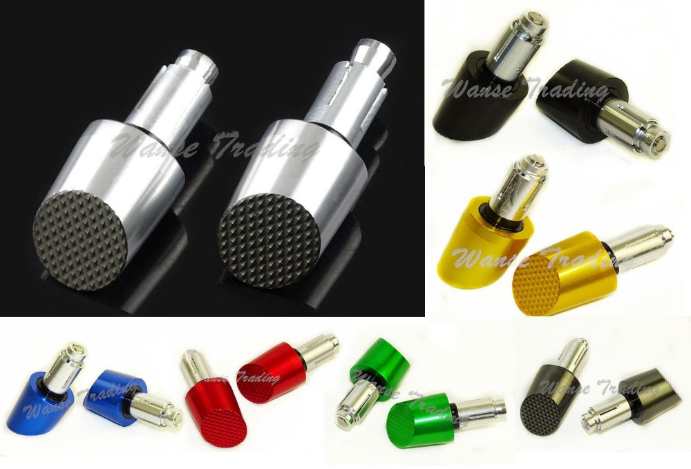 Motorcycle Universal CNC Aluminum 7/8 22mm Racing Handlebars Grip Handle Bar Ends Weights Cap Sliders Slanted crystal lux подвесная люстра crystal lux gaudi sp8