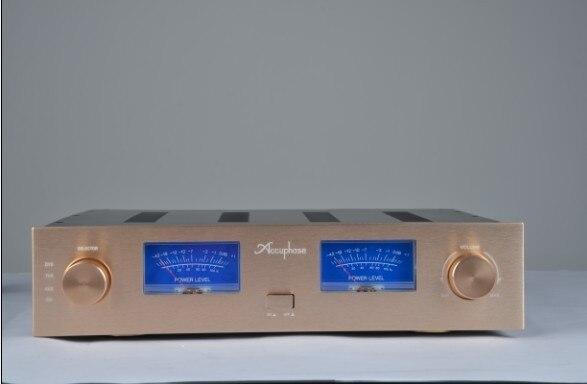 AV Meter AMP astuccio Box/Scatola/Pannello Oro/amplificatore telaio/Merge Amplificatore Telaio/Ferro alluminio telaio