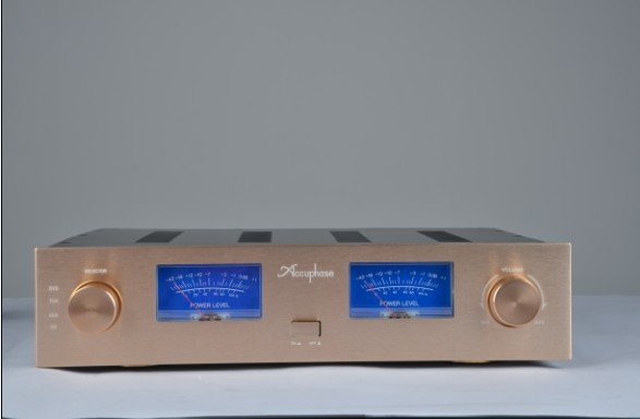 AV Meter AMP Case Enclosure / Box / Gold Panel / Amplifier Chassis /Merge Amplifier Chassis /Iron Aluminum Chassis