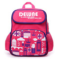 Delune brand Children Cartoon School Bags for boys and girls Primary School stress reliever kids Backpacks students book bags