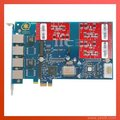 AEX410 PCIe with 3FXO module support Asterisk,Elastix, VoIP IP PBX