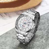 Curren Business Quartz Watch Men Metal Stainless Steel Band Auto Date Day Week Wristwatches Relogio Masculino