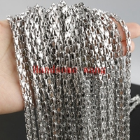 Wholesale High Quality 4 5mm Width 316L Stainless Steel Silver Bicycle Chain Necklace Chain 5 10m