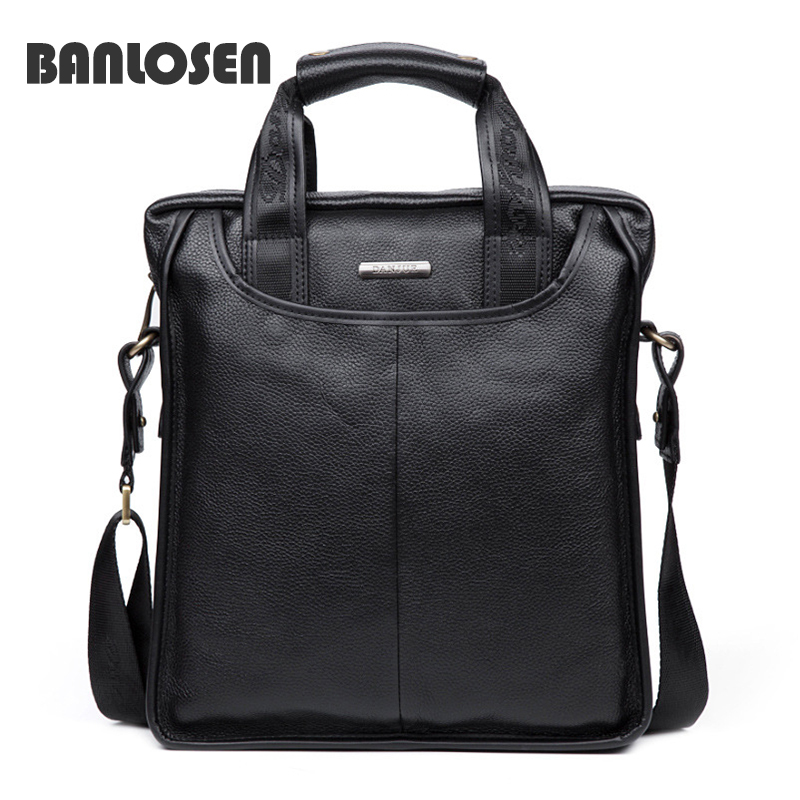 ФОТО 2016 New Fashion Genuine Leather Man Messenger Bags Cowhide Leather Male Handbags Casual Men Commercial Briefcase Bag