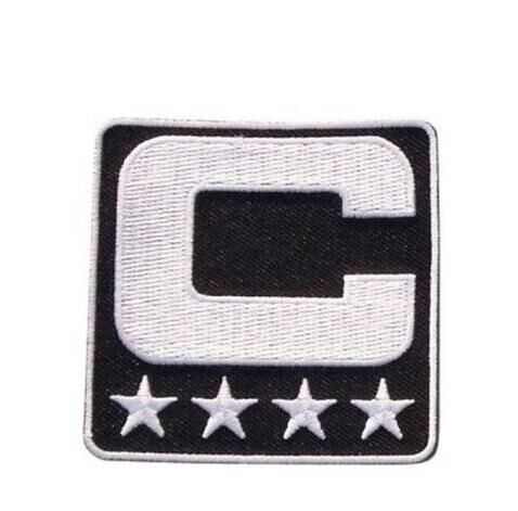 2017 Kapitán C Patch Iron nebo šití na Jersey Football, Baseball. Fotbal, hokej, lakros, basketbal